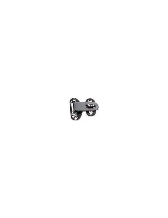 PADLOCK HINGE CHROME BRASS 55X50X166