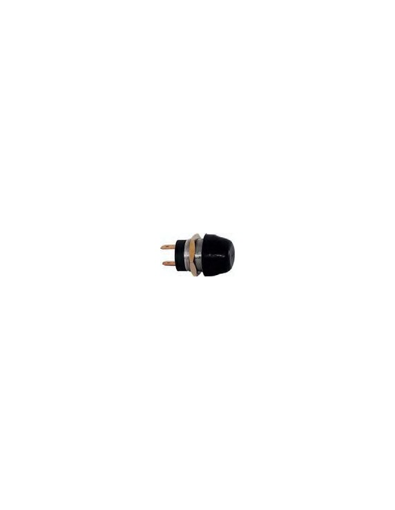 PUSH-BUTTON PLAST BLACK CHR.BR 20A