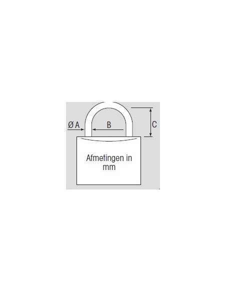 Hangslot RVS dubbele sluiting 40 mm