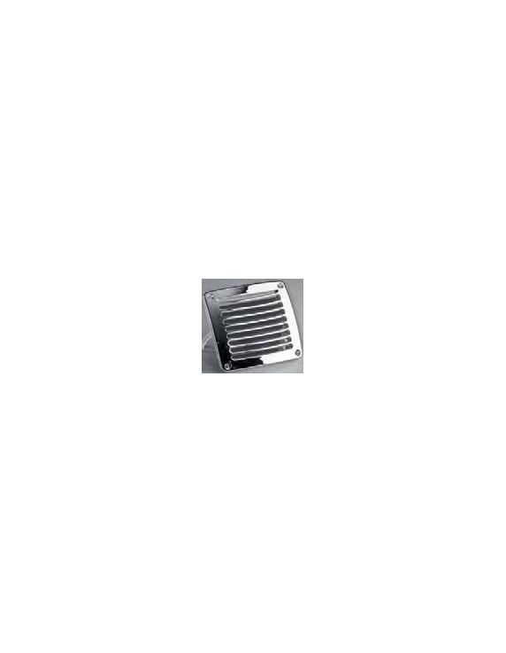 Vierkant ventilatierooster 118x118mm wit