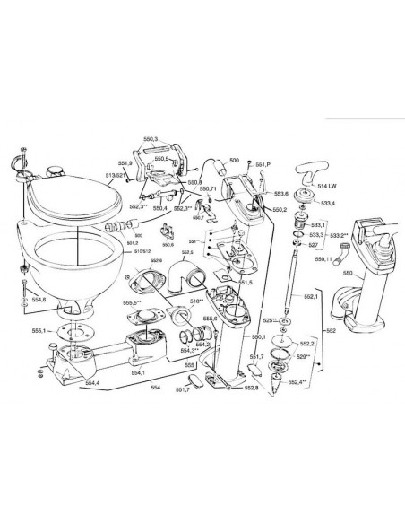 nr.554 RM69 Sealock basis compleet(SLK)