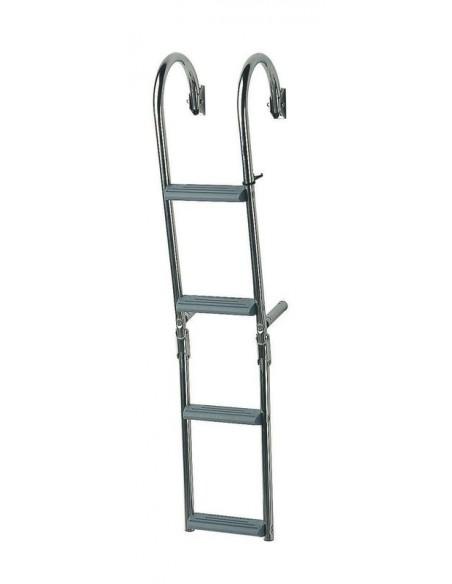 Ladder 2+2 treden smal 180