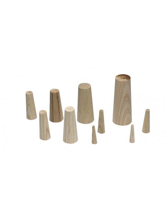 Houten pluggen set van 9 (3 lengtes)