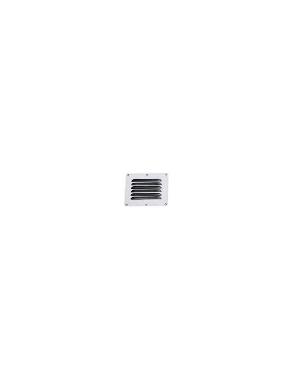 Ventilatierooster rvs 115x130