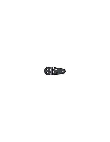 Polyamide scharnier semi ovaal per 2 stuks zwart