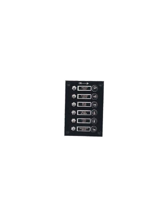 SWITCH PANEL 6 GANG 12V