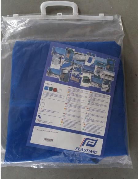 Zeilhuikje blauw dralon of pvc wit div. maten