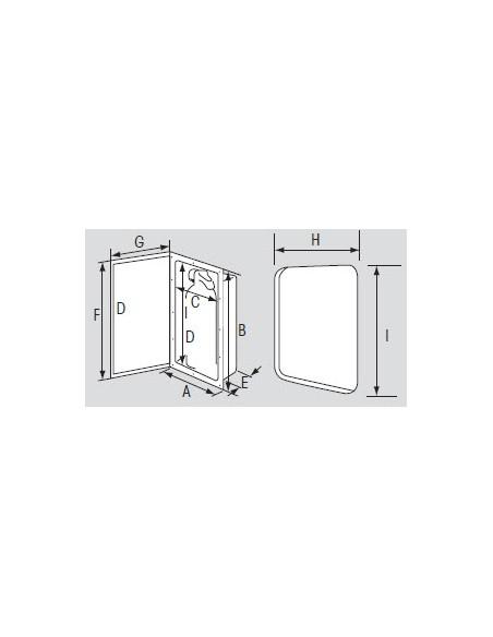 Brandblusserkast wit deur