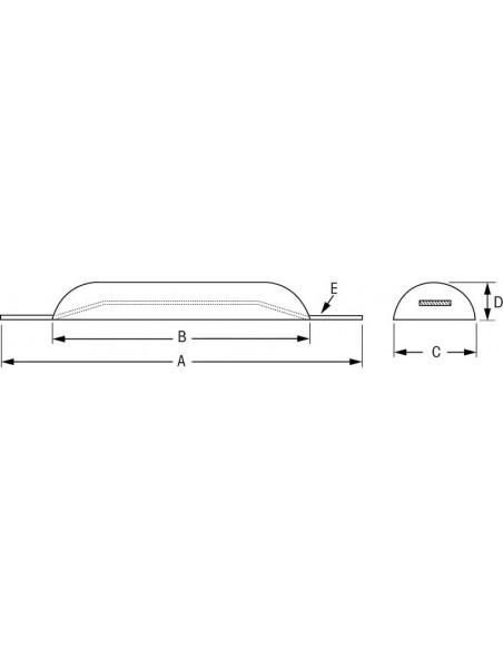 Half-eivormige anodes div. maten