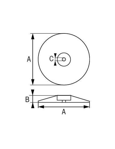 Roer/zwaard/trimtab zinkanode (paar)