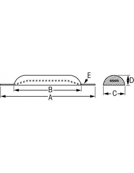 Half-eivormie anodes zink div. maten