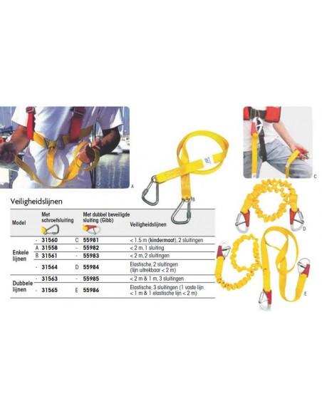 Veiligheidslijn met schroefsluiting div. modellen