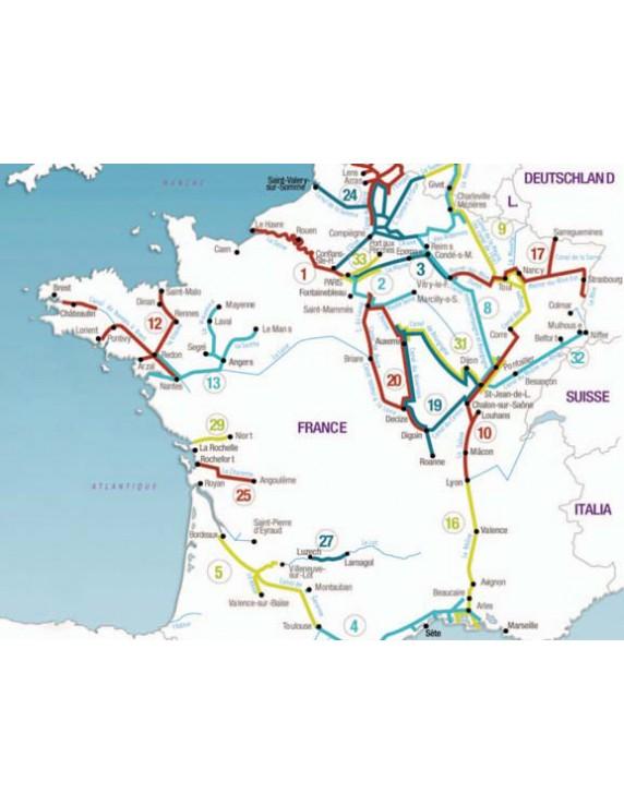 Navigatiekaart nr. 9 Meuse, Belgische Sambre-Oostfranse kana