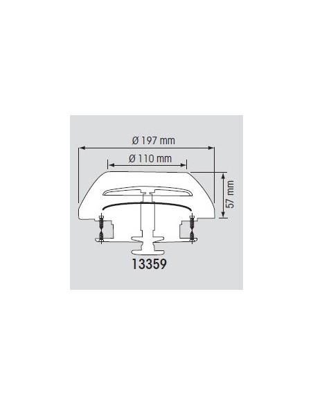 Paddestoelventilator RVS of kunststof kap 197mm