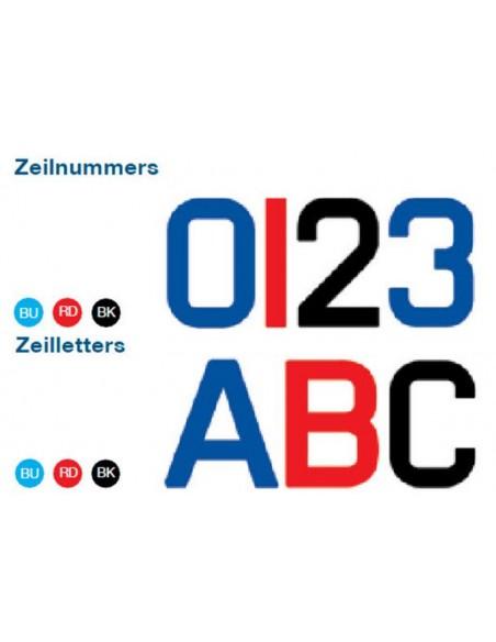 Zeil cijfers / letters